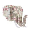 Cardboard Safari Eyan Elephant Bust Dusty Rose Wall Décor