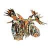 Cardboard Safari Fred Moose Bust Drip Wall Décor
