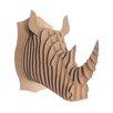 Cardboard Safari Robbie Rhino Bust Wall Décor