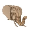 Cardboard Safari Eyan Elephant Bust Wall Décor