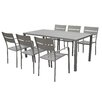 Pangea Home Miami 7 Piece Dining Set
