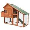 Merax Wooden Chicken Coop with Fence and Ramp