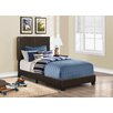Monarch Specialties Inc. Faux Leather Twin Size Bed