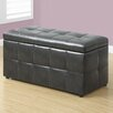 Monarch Specialties Inc. Faux Leather Storgae Ottoman