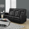 Monarch Specialties Inc. Bonded Leather Reclining Sofa (Set of 2)