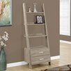 "Monarch Specialties Inc. 69"" Leaning Bookcase"