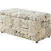 Monarch Specialties Inc. Vintage French Storage Ottoman
