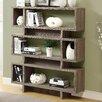 "Monarch Specialties Inc. Reclaimed Look Modern 55"" Standard Bookcase"