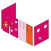 Hoppekids Vorhang in Flower Power für 200cm x 90cm mittelhohes Bett