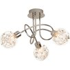 Brilliant Joya 3 Light Semi Flush Ceiling Light
