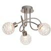 Brilliant Theron 3 Light Semi Flush Ceiling Light