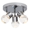 Brilliant Lastra 3 Light Semi Flush Ceiling Light