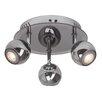 Brilliant Bonnie 3 Light Semi Flush Ceiling Light
