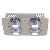 Brilliant 4 Light Flush Ceiling Light