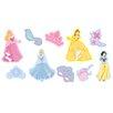 Disney 10-tlg. Wandtattoo-Set Princess Jewels Foam Elements