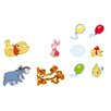 Disney 10 Piece Winnie Pooh Mini Foam Elements Wall Sticker Set