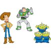 Disney Toy Story 3 Piece Foam Elements Wall Sticker Set