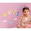 Disney Princess 24 Piece Mini Foam Elements Wall Sticker Set