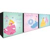 Disney Princess 3 Piece Graphic Art Unwrapped on Canvas Set