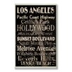 Stupell Industries Los Angeles Cities and Words Textual art Plaque