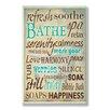 Stupell Industries Bathe Wash Your Worries Typography Bathroom Wall Plaque