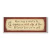 Stupell Industries How Long a Minute Rectangle Typography Bathroom Wall Plaque