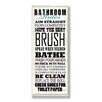 Stupell Industries Bathroom Rules Typography Tall Rectangle Wall Plaque