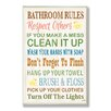 Stupell Industries Bathroom Rules Rubber Ducky Typography Bathroom Wall Plaque