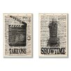 Stupell Industries Take One and Showtime Movie 2 Piece Textual art Set