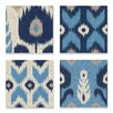 Stupell Industries Alternating Ikat Design 4 Piece Wrapped on Canvas Set