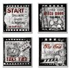 Stupell Industries Cinematic Expressions 4 pc Square Graphic Art Plaque Set (Set of 4)