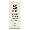 Stupell Industries See the Beauty Typography Wall Plaque Memo Board
