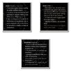 Stupell Industries Dream, Honor and Happiness Definition Wall Plaque Trio Graphic Art Set