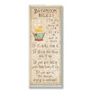 Stupell Industries Bathroom Rules Rubber Ducky Typography Skinny Rectangle Bathroom Wall Plaque