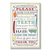 Stupell Industries Wash Your Hands Typography Bathroom Wall Plaque