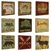 Stupell Industries Nature and Outdoors 9 Piece Wall Plaque Set
