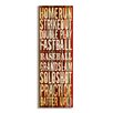 Stupell Industries The Kids Room Home Run' Baseball Typography Wall Plaque