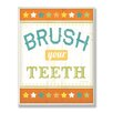 Stupell Industries The Kids Room Brush Your Teeth Wall Plaque