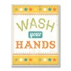 Stupell Industries The Kids Room Wash Your Hands Yellow Stars Wall Plaque