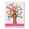 Stupell Industries The Kids Room Owls and Birds On Branches Rectangle Wall Plaque
