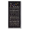 Stupell Industries The Kids Room Be Real Typography Skinny Rectangle Wall Plaque