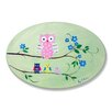 Stupell Industries The Kids Room Owls on Branches Green Oval Wall Plaque