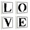 Stupell Industries lulusimonSTUDIO 4 Piece Love Typography Wall Art Set