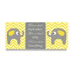Stupell Industries The Kids Room Yellow chevron Elephants Love Triptych 3 pc Wall Plaque Set