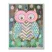 Stupell Industries The Kids Room Distressed Woodland Owl Wrapped Canvas Wall Art
