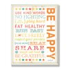 Stupell Industries The Kids Room Be Happy Kids Typography Wall Plaque