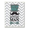 Stupell Industries The Kids Room Dream Big Little Man Chevron Wall Plaque