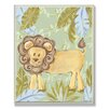 Stupell Industries The Kids Room Lion Jungle Rectangle Wall Plaque