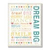 Stupell Industries The Kids Room Dream Big Kids Typography Rules Rectangle Wall Plaque