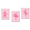Stupell Industries The Kids Room Ballerina Poses 3 Piece Wall Plaque Set